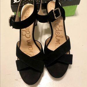 Sam Edelman Black Suede Strappy Sandals